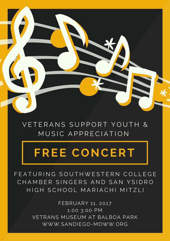 Music Appreciation Concert | San Diego MOWW